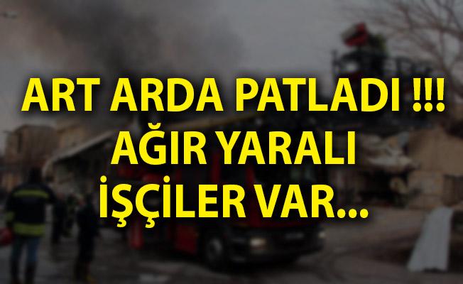 Gaziantep'te Boya Fabrikasında Yangın! Art Arda Patladı! Yaralılar Var