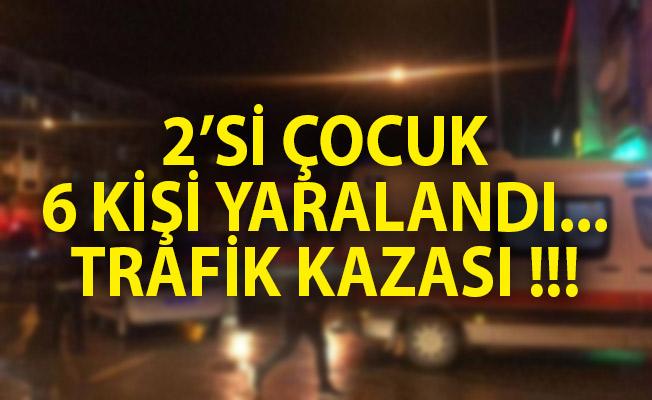 Gemlik'te Trafik Kazası! 2'si Çocuk 6 Kişi Yaralandı!