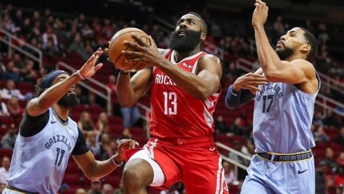 Houston Rockets, NBA'de Memphis Grizzlies'i mağlup etti