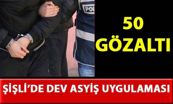 İstanbul Şişli'de asayiş uygulamalarında 50 kişi gözaltına alındı