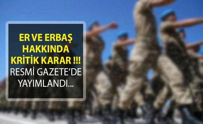 Jandarma Genel Komutanlığı Er ve Erbaş İhtiyacı Hakkında Karar Resmi Gazete'de Yayımlandı!
