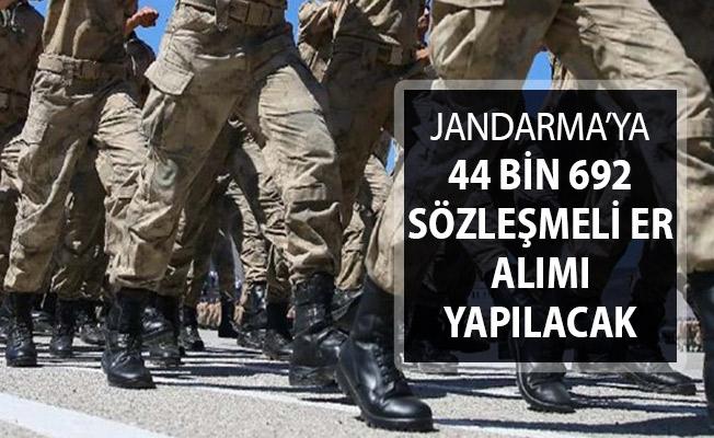 Jandarma Genel Komutanlığına 44 Bin 692 Sözleşmeli Er Alımı