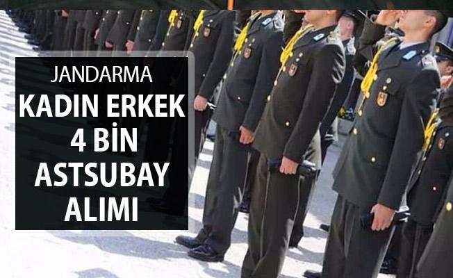 Jandarma Kadın Erkek 4 Bin Astsubay Alımı ! İşte Branş Dağılımı