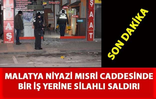 Malatya'da bir iş yerine pompalı tüfekle saldırı düzenlendi