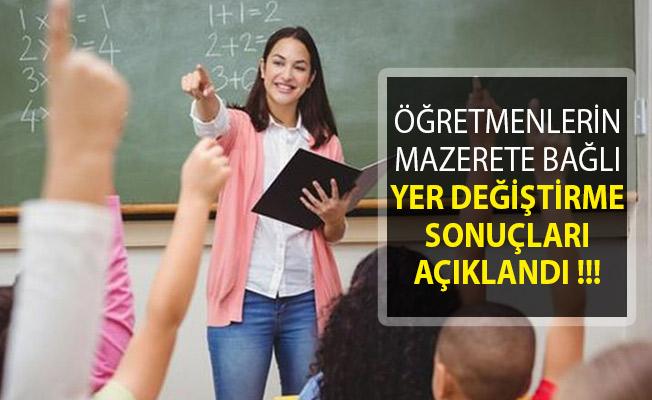 Milli Eğitim Bakanlığı (MEB) Tarafından Öğretmenlerin Mazerete Bağlı Yer Değiştirme Sonuçları Açıklandı
