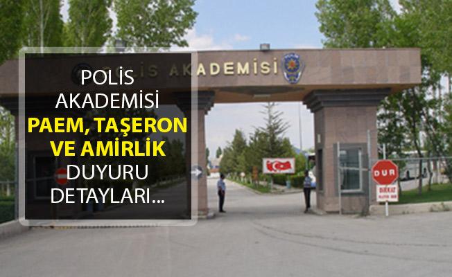 Polis Akademisi, Komiser Yardımcısı Sınav Sonuçları, Amirlik Hata Sonuçları ve İşçi Sınav Sonuçları Duyurusu