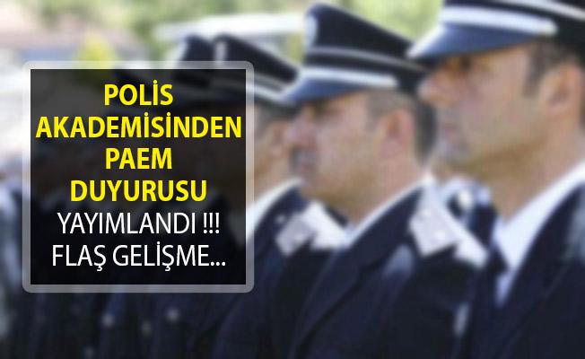 Polis Akademisinden PAEM Komiser Yardımcısı Hakkında Duyuru Yayımlandı!