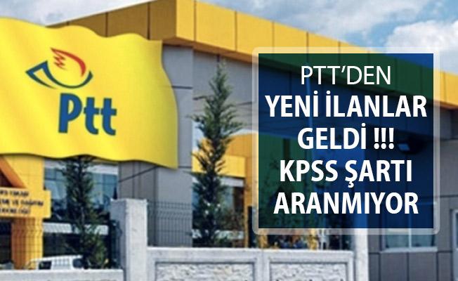 PTT KPSS Şartsız Personel Alım İlanı Yayımlandı ! Yeni İlanlar Peş Peşe Geldi