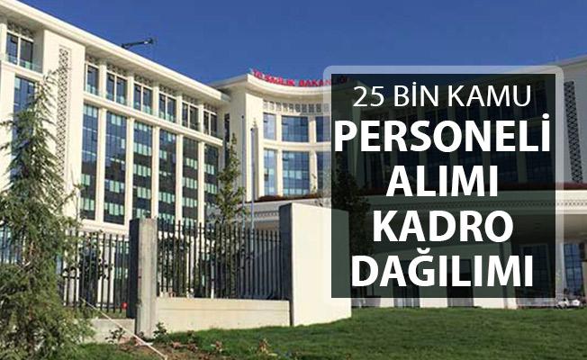 Sağlık Bakanlığı 25 Bin Kamu Personeli Alımı Kadro Dağılımı ve Tüm Detaylar
