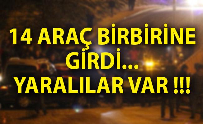 Samsun'da Trafik Kazası! 14 Araç Birbirine Girdi Yaralılar Var
