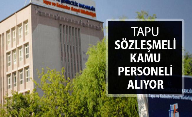 Tapu Kadastro Genel Müdürlüğü Kamu Personeli Alım İlanı Yayımlandı