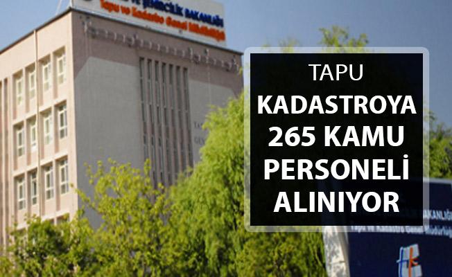 Tapu'ya 265 Kamu Personeli Alımı Yapılıyor ! KPSS Tercih Kılavuzu Detayları