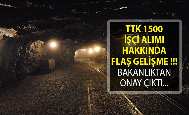 TTK'Ya 1500 İşçi Alımında Bakanlıktan Onay Çıktı! Türkiye Taş Kömürü Kurumu 1500 İşçi Alımı Son Dakika!