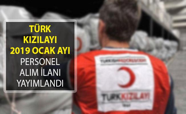 Türk Kızılayı 2019 Ocak Ayı Personel Alım İlanı Yayımlandı ! Tecrübeli ve Tecrübesiz