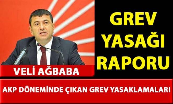 Veli Ağbaba, 'Grev Yasakları' ile ilgili rapor hazırladı