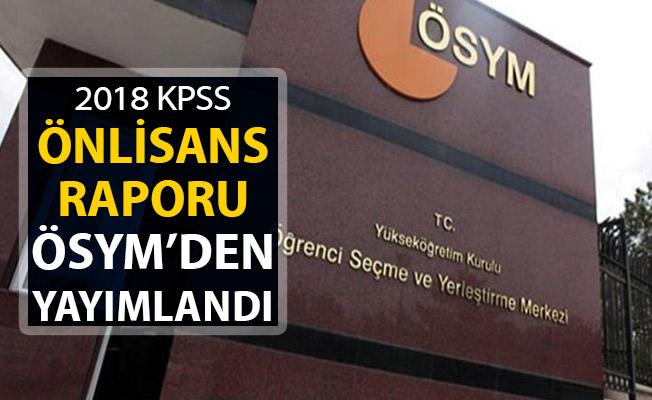 2018 KPSS Önlisans Değerlendirme Raporu Yayımlandı