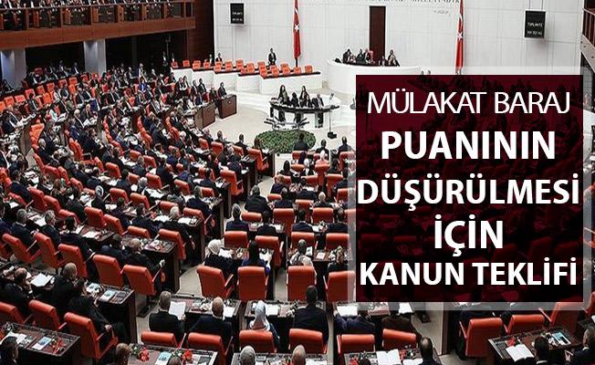 AK Parti'den Mülakat Baraj Puanının Değişmesi Hakkında Kanun Teklifi