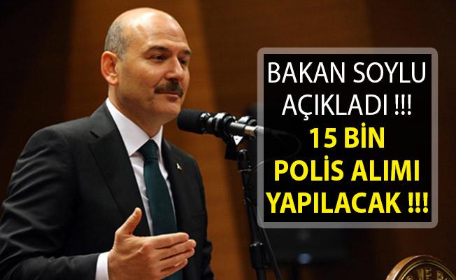 Bakan Soylu'dan Son Dakika! 15 Bin Polis Alımı Yapılacak! 15 Bin POMEM Polis Alımı