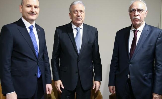 Bakan Süleyman Soylu, Göç İçişleri sorumlusu AB Komiseri Dimitris Avramopoulos ile görüştü