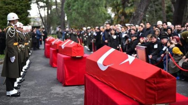 Çekmeköy'deki Helikopter Kazasında Şehit Olan 4 Askere Veda