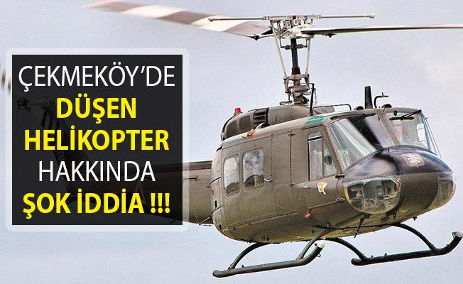 Çekmeköy'de Düşen Helikopter Hakkında CHP'li Vekilden Şok İddia!