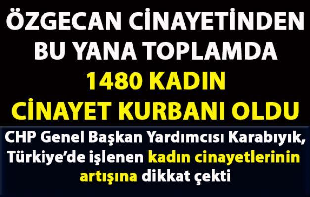 CHP Genel Başkan Yardımcısı Karabıyık, Türkiye'de artan kadın cinayetleri hakkında bilgi verdi