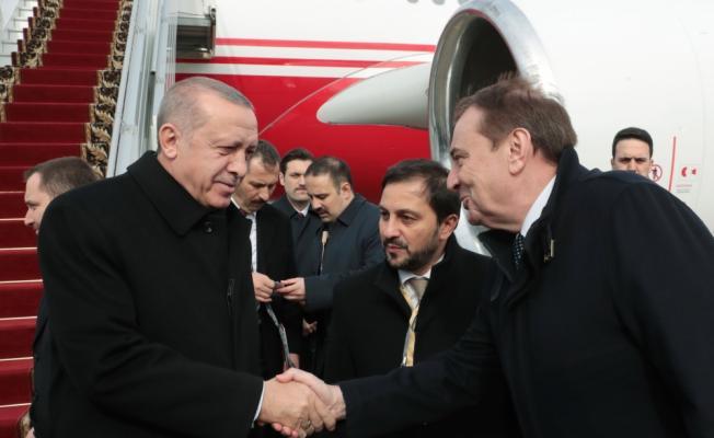 Cumhurbaşkanı Erdoğan, özel uçak 'CAN' ile Rusya'nın Soçi kentine geldi