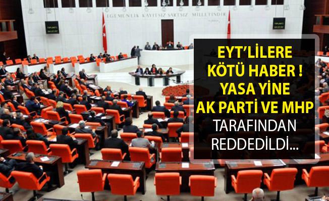 Emeklilikte Yaşa Takılanlara Kötü Haber! Yasa Yine AK Parti ve MHP Tarafından Reddedildi.