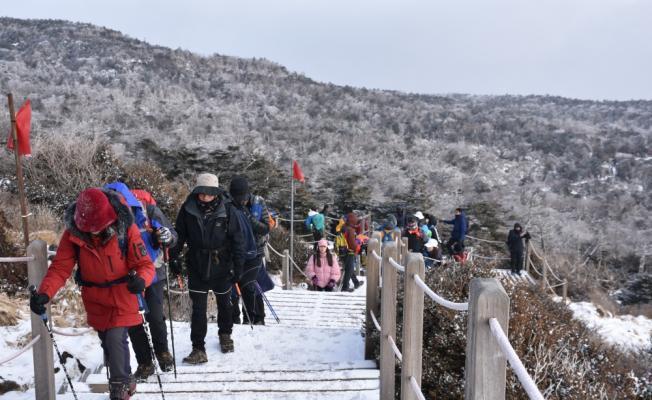 Güney Kore'nin zirvesine ziyaretçi akını