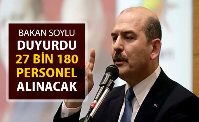 İçişleri Bakanı Soylu Duyurdu: Jandarmaya 27 Bin 180 Personel Alınacak