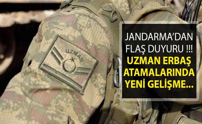 Jandarma Genel Komutanlığından Flaş Duyuru! Uzman Erbaş Atamalarında Yeni Gelişme!