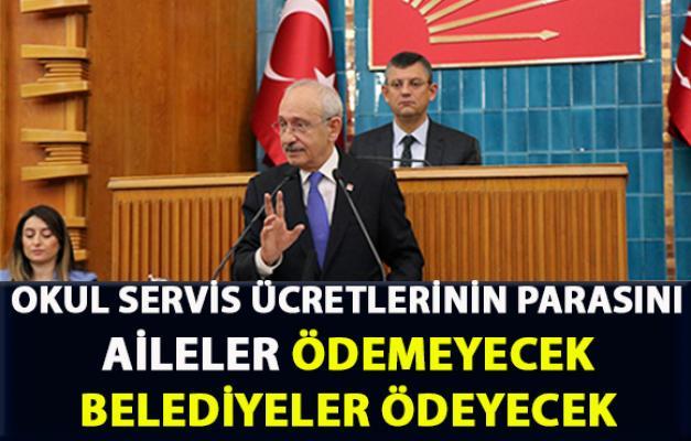 Kılıçtaroğlu, 'okul servis ücretlerini belediyeler ödeyecek' dedi