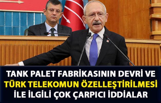 Kılıçtaroğlu, Tank Palet Fabrikasının devri ve Türk Telekomun özelleştirilmesi hakkında flaş iddialarda bulundu