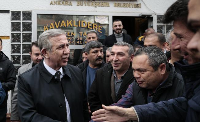 Mansur Yavaş'tan taksicilere ziyaret