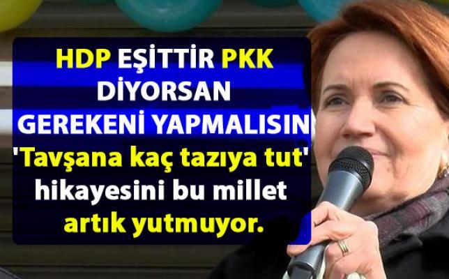 Meral Akşener, Erdoğan'a seslendi: HDP eşittir PKK diyorsanız gereğini yapmalısınız