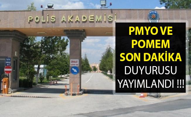 Polis Akademisi Başkanlığı Son Dakika Duyurusu Yayımladı! PMYO ve POMEM