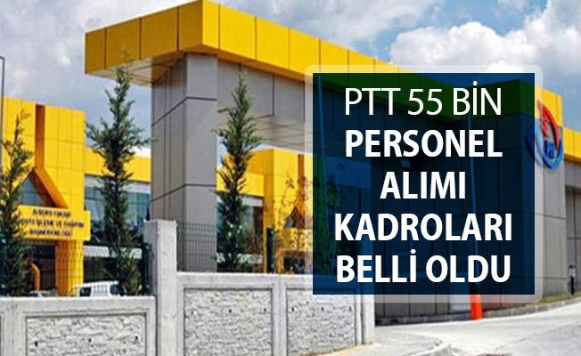 PTT 55 Bin Kamu Personeli Alımı İçin Kadro Dağılımı Belli Oldu