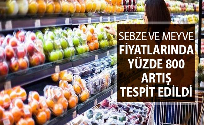 Sebze ve Meyve Fiyatlarında Yüzde 800 Artış Tespit Edildi