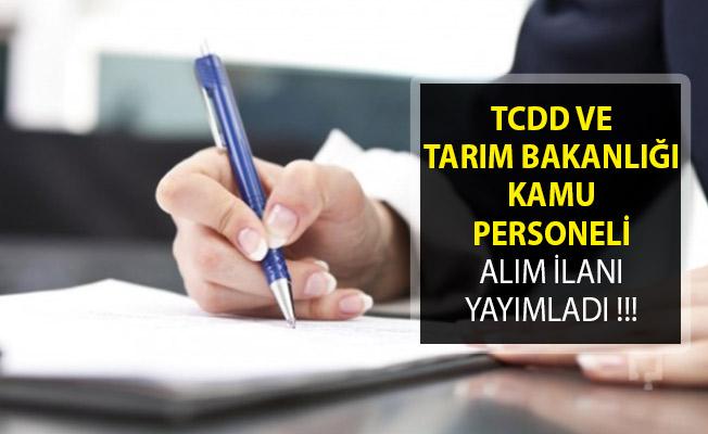 Tarım Bakanlığı ve TCDD Kamu Personeli Alımı İçin Yeni İlan Yayımladılar!