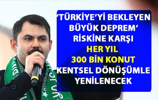 Türkiye'yi bekleyen büyük deprem hazırlığını Bakan Kurum açıkladı