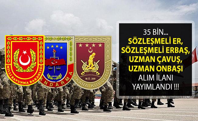 35 Bin Askeri Personel Alımı Yapılıyor- Sözleşmeli Er, Sözleşmeli Erbaş, Uzman Çavuş, Uzman Onbaşı Alımı