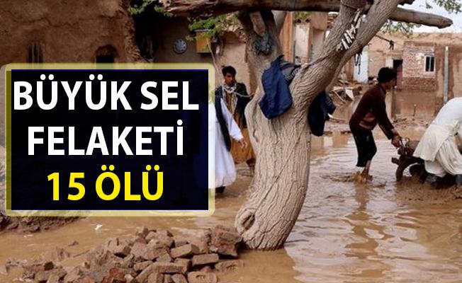 Afganistan'da büyük sel felaketi 15 can aldı