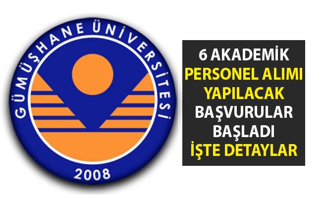 Akademik personel alımı yapılacaktır! Gümüşhane Üniversitesi 6 öğretim görevlisi alımı için iş ilanı yayımladı