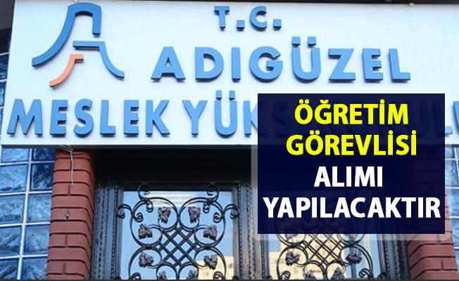 Ataşehir Adıgüzel MYO öğretim görevlisi personel alımı yapacaktır!. Son başvuru 05 Nisan 2019