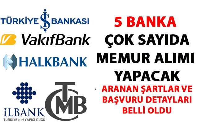 Banka Memur alım ilanları! İş Bankası, Halk Bank, Vakıfbank, Emlak Bankası ve Merkez Bankası memur alımı iş ilanı yayımladı