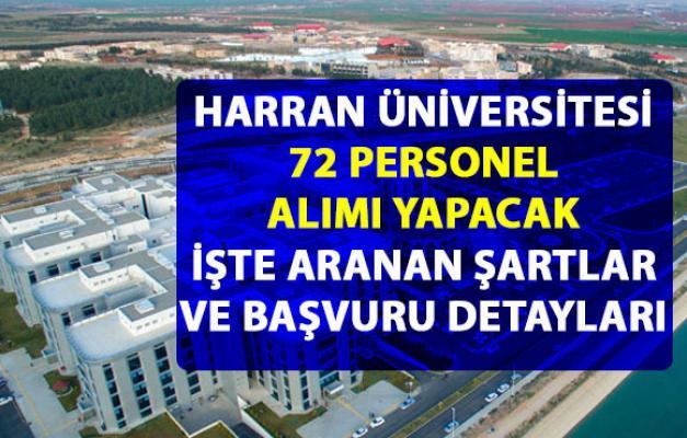 Harran Üniversitesi personel alım ilanı için başvuru detayları belli oldu!