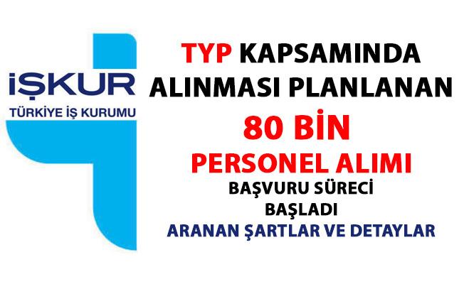 İŞKUR iş ilanları! TYP kapsamında alınacak 80 bin personel alımı başvuruları başladı