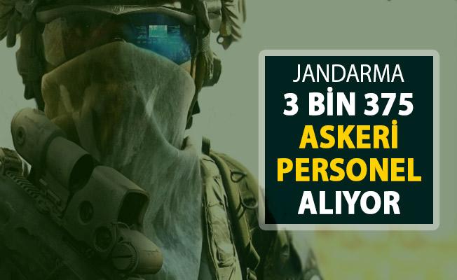 Jandarma 3 Bin 375 Askeri Personel Alımı Başvuruları Sona Eriyor