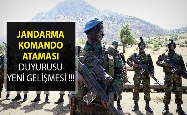 Jandarma Genel Komutanlığı Komando Branşlı Uzman Erbaş Atamasında Yeni Gelişme