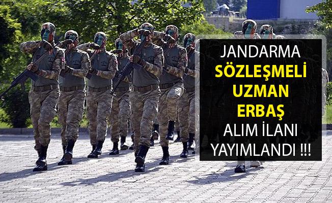 Jandarma Genel Komutanlığı KPSS'li ve En Az 50 KPSS Puan Şartı İle Sözleşmeli Uzman Erbaş Alım İlanı Yayımladı